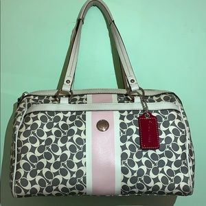Coach grey pink and white shoulder bag